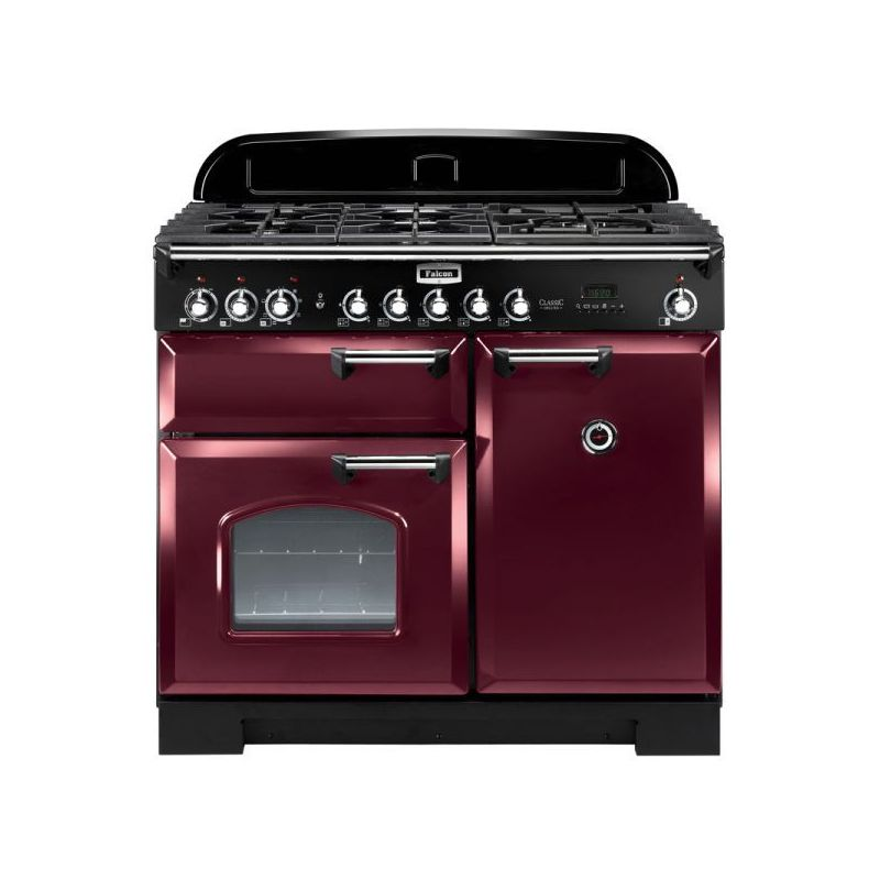 cuisini re falcon classic deluxe 100 rouge chrome. Black Bedroom Furniture Sets. Home Design Ideas